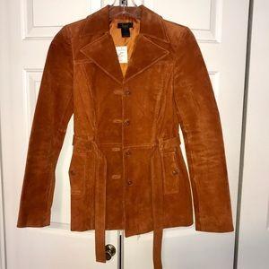Genuine Leather burnt orange jacket by Frenchi